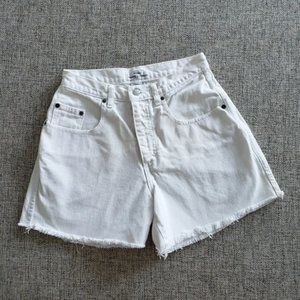 Vintage Guess by Georges Marciano White Jean Shorts Size 28